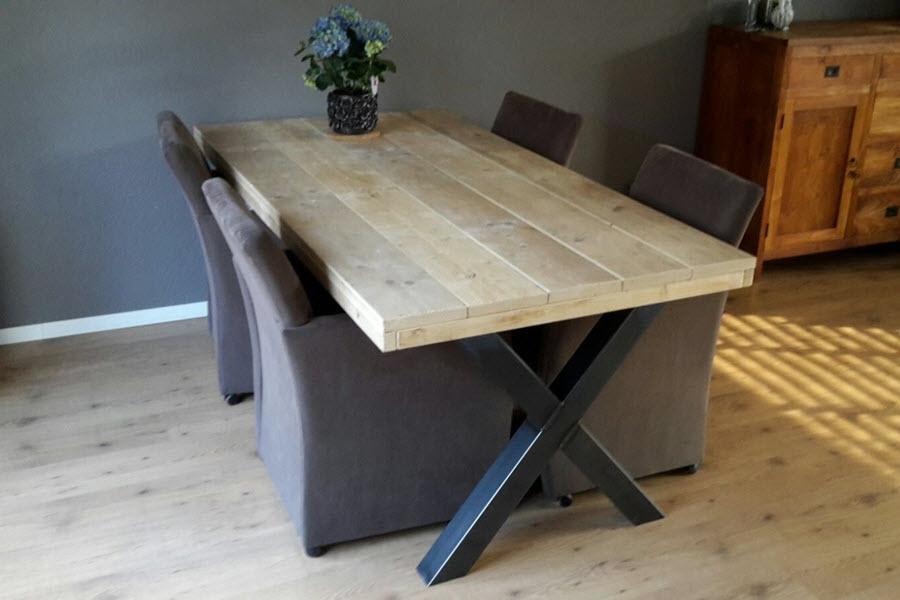 Industriele Tafel Sloophout.Industriele Tafel Steigerhouten Meubelen Wood Sixteen