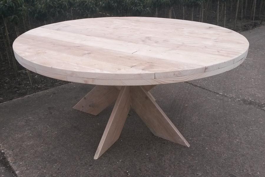 Ronde Steigerhouten Eettafel.Ronde Steigerhouten Tafel Steigerhouten Meubelen Wood